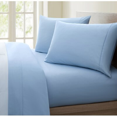 Mountville 1200 Thread Count 4 Piece Sheet Set Size: King, Color: Aqua Blue