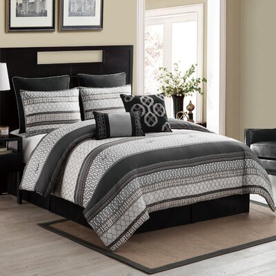 Crenshaw 6 Piece Comforter Set Size: King