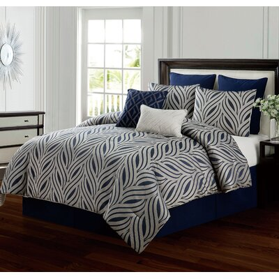 Glendale 6 Piece Comforter Set Size: King