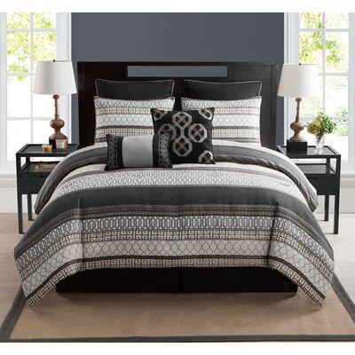 Crenshaw 8 Piece Comforter Set Size: King