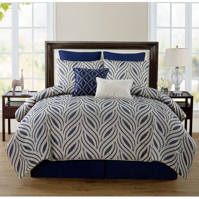 Glendale 8 Piece Comforter Set Size: King