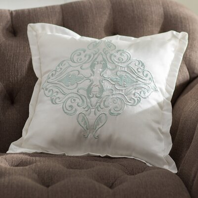Empress Square Throw Pillow Color: Mint