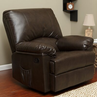 Marbled Leather Rocker Recliner with Heat and Massage