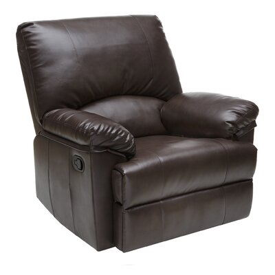 Marbled Leather Rocker Recliner