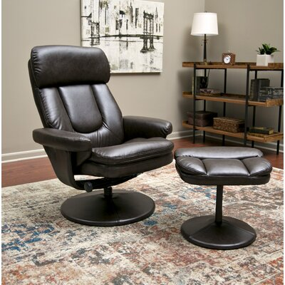 Pande Basic Manual No Motion Recliner with Ottoman
