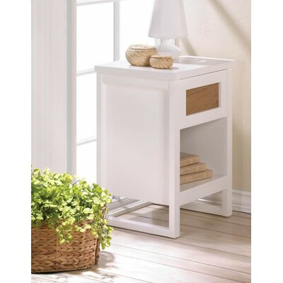 Perfect White End Table