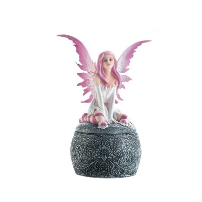 Pink Winged Fairy Jewelry Box