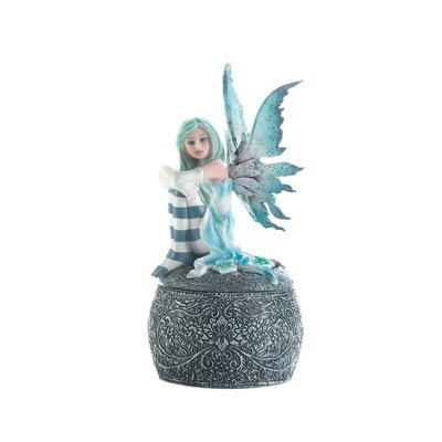 Icy Blue Fairy Jewelry Box