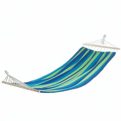 Bahama Stripes Single Cotton Tree Hammock Color: Blue