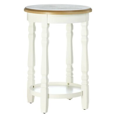 Wood Top Round End Table