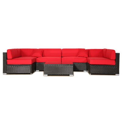 Outdoor Loveseat/Sofa Cushion Covers Color: Red