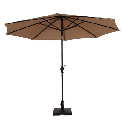 Premium Solar Powered Led Lighted Illuminated Umbrella 1757 Item Image