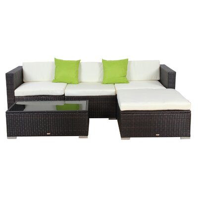 Sectional with Cushions and Ottoman