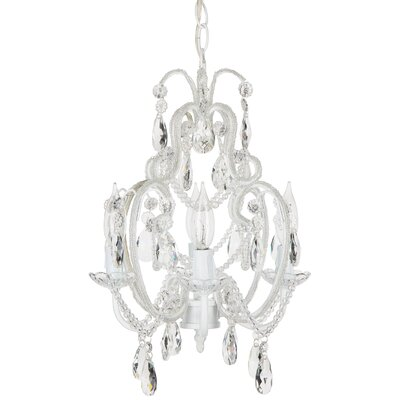 Tiffany 4-Light Crystal Chandelier Crystal Color: White