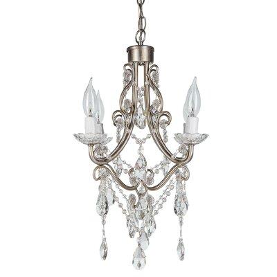 Madeline 4-Light Crystal Chandelier Finish: Silver