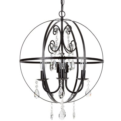 Luna 4-Light Crystal Chandelier CH112LB