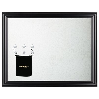Aria Magnetic Wall Mounted Jewelry Holder Color: Black