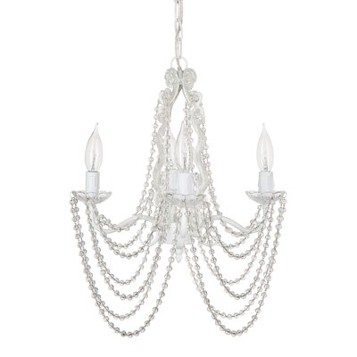 Beaded 4-Light LED Candle-Style Chandelier