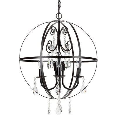 Luna 4-Light Globe Pendant Finish: Black