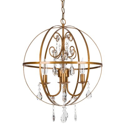 Luna 4-Light Globe Pendant Finish: Gold