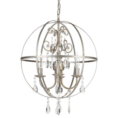 Luna 4-Light Globe Pendant Finish: Silver