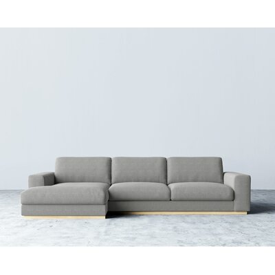 Sectional Upholstery: Dust Gray, Orientation: Right Hand Facing