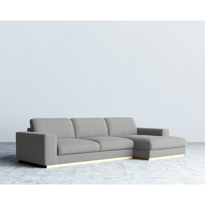 Sectional Upholstery: Dust Gray, Orientation: Left Hand Facing