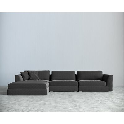 Sectional Upholstery: Charcoal