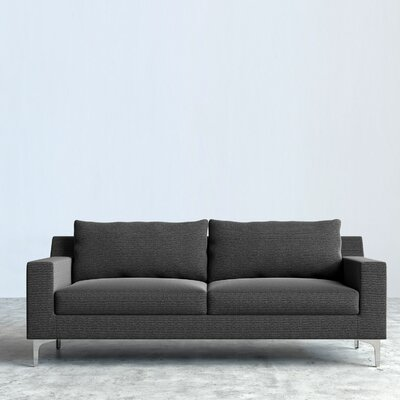 Sophia Sofa Upholstery: Dust Gray, Leg Finish: Chrome