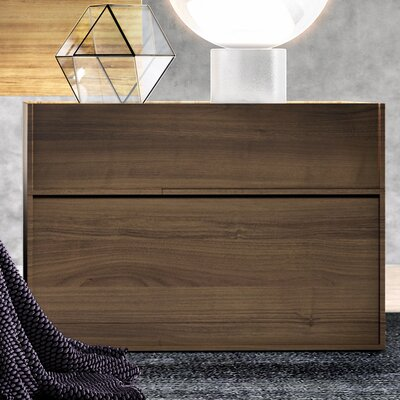 Hunter 2 Drawer Nightstand Finish: Walnut