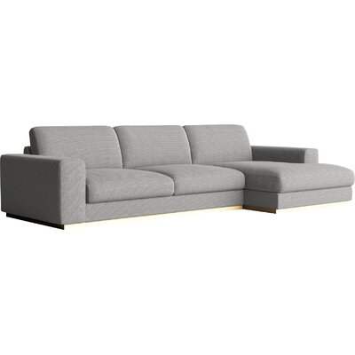 Noah Sectional Orientation: Left Hand Facing, Upholstery: Concrete