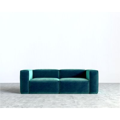 Marlowe Sofa Color: Aquamarine