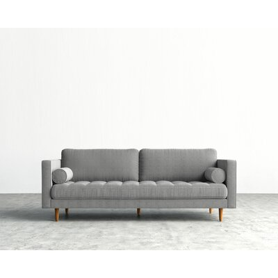Luca Sofa Upholstery: Dust Gray, Finish: Natural