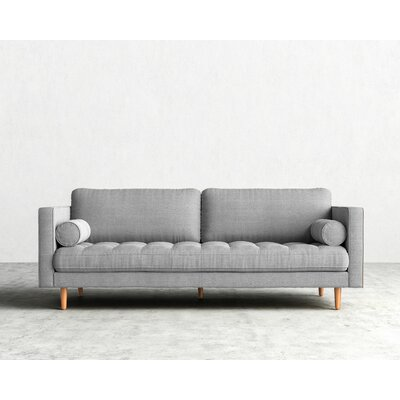 Luca Sofa Finish: Black, Upholstery: Cantina Smoke