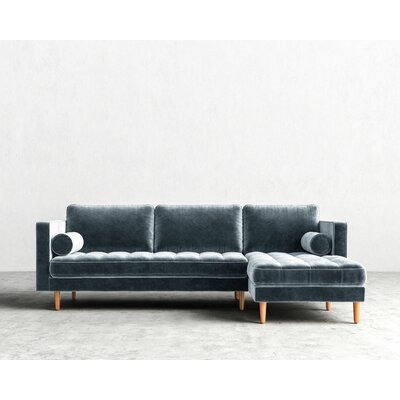 Luca Sectional Upholstery: Solstice, Finish: Natural, Orientation: Left-hand facing
