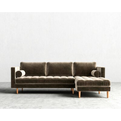 Sectional Upholstery: Oxford, Finish: Natural, Orientation: Left-hand facing