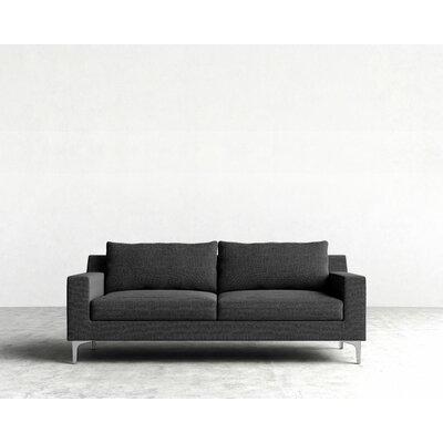 Sophia Sofa Upholstery: Charcoal, Leg Finish: Chrome