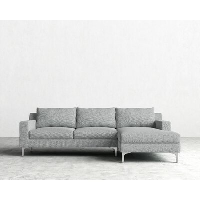 Sophia Sectional Orientation: Right Hand Facing, Upholstery: Harbour Mist, Finish: Chrome