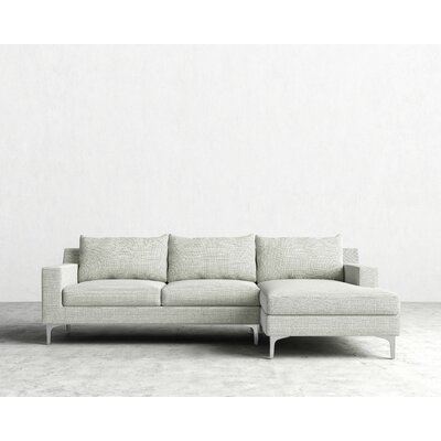 Sophia Sectional Orientation: Left Hand Facing, Upholstery: Dust Gray, Finish: Rose Gold