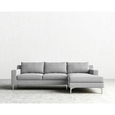 Sectional Orientation: Right Hand Facing, Upholstery: Concrete, Finish: Chrome