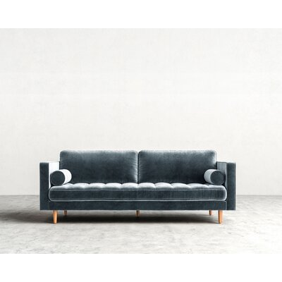 Luca Sofa Finish: Natural, Upholstery: Solstice