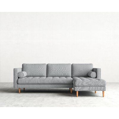 Sectional Upholstery: Harbour Mist, Finish: Natural, Orientation: Left-hand facing