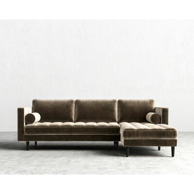 Sectional Upholstery: Oxford, Orientation: Left-hand facing, Finish: Black