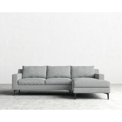Sectional Orientation: Right Hand Facing, Upholstery: Harbour Mist, Finish: Matte Black