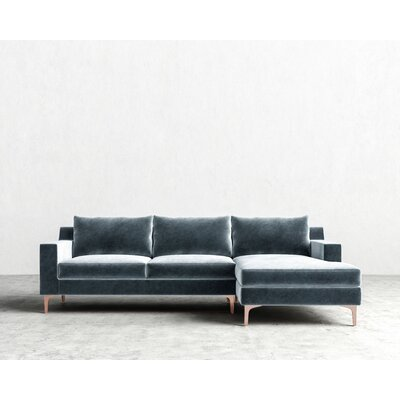 Sectional Orientation: Right Hand Facing, Upholstery: Solstice, Finish: Rose Gold