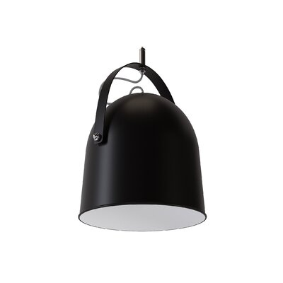 Wesley 1-Light Mini Pendant Shade Color: Black