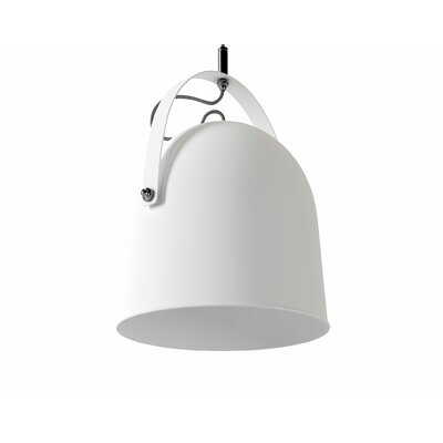 Wesley 1-Light Mini Pendant Shade Color: White