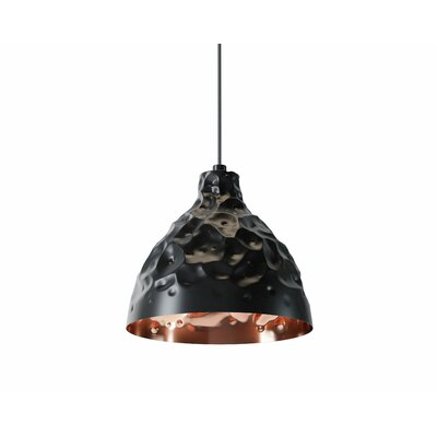 Georgia 1-Light Mini Pendant Shade Color: Black