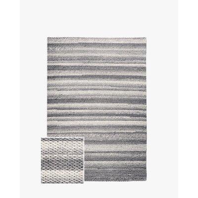 Giselle Hand-Woven Charcoal Area Rug Rug Size: 8 x 10
