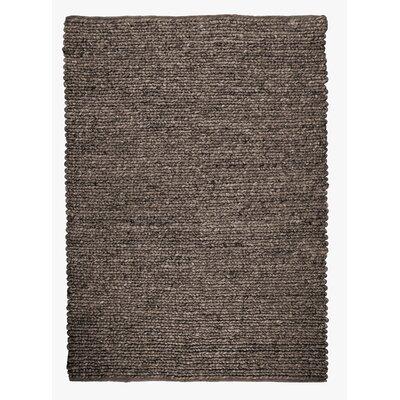 Sebastian Hand-Woven Chocolate Area Rug Rug Size: 53 x 76
